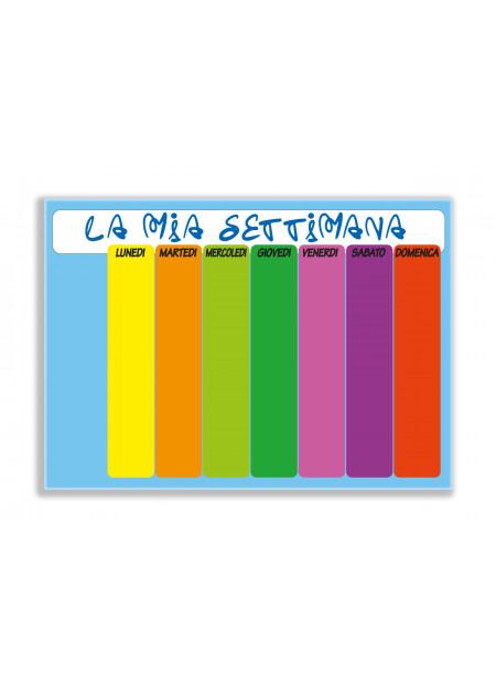 """Lavagne """" La mia settimana"""" arcobaleno"""